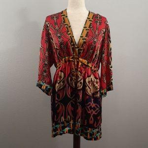 CAbi Silk Print Dress